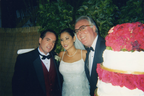(UPI) (Associated Media) (AP)Tommy Pooch and Michelle Pooch, with G Jack Donahue Hosting as A wedding Gift over 2000 Guests MC