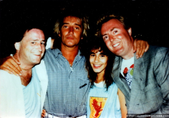 Forever Young Rod Stewart On  North American Tour Back Stage Chris Fontaine Anna Maria and G jack Donahue