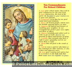 Ten Commandments for School Children